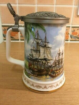Royal Albert Franklin Mint Cooks Voyages To South Pacific-Tankard/Lidded Stein  • 35£