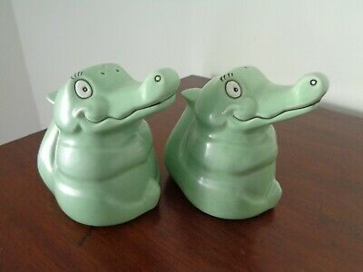 Unusual Carlton Ware Novelty Crocodile Cruet Set (salt & Pepper) • 9.99£