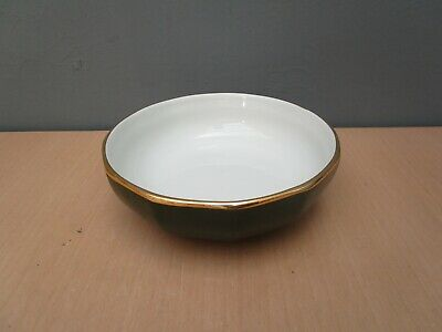 APILCO GREEN WITH GOLD EDGE 6 Inch BOWL • 3.50£