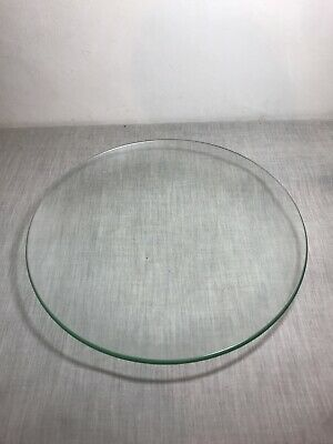Large Flat Plain Glass Display Dish Fruit Bowl Pot Pourri • 15£