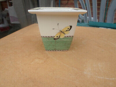 Wedgwood Sarah's Garden Small  Plant Pot With Butterfly Design • 5£
