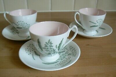 3 Queen Anne PAMPAS Coffee Cups / Cans And Saucers  • 7.99£