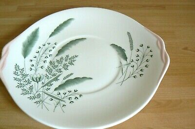 Queen Anne PAMPAS  Tab Handled Cake Bread Plate • 3.50£