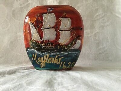 Anita Harris Art Pottery Mayflower Purse Vase, Limited Edition - Excellent • 52£