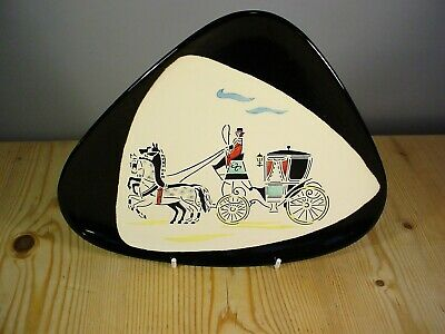 West German 1950s/'60s Quirky Carriage Wall Plaque (1) • 9.99£