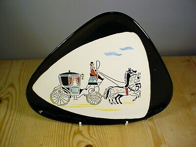 West German 1950s/'60s Quirky Carriage Wall Plaque (2) • 9.99£
