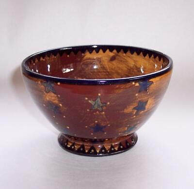 Vintage Studio POTTERY Ceramic BOWL Stars Decoration Wiccan - Signed Peterson • 0.99£