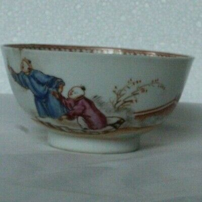 Antique Chinese Inspired Bowl Probably English Famille Palette • 32£