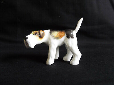 Crown Derby Fox Terrier With Handpainted Finish. • 4.99£