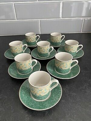 8 BHS Valencia Pattern Coffee Cups & Saucers • 18£