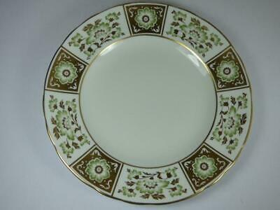 ROYAL CROWN DERBY- GREEN DERBY PANEL- PLATE-  A.1237-1987- 8.5in • 12.50£