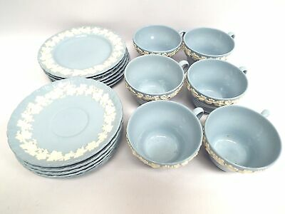 Wedgwood Embossed Queens Ware Tea Set: 6x Cups, 6x Saucers 6x Side Plates  - B18 • 31.99£