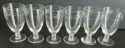 Daum-nancy Crystal 1945 -1970 Etched Sherry / Liquer Glasses Set Of 6 • 140£