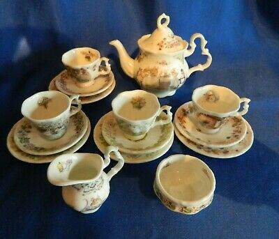 Royal Doulton Jill Barklem. Brambly Hedge Miniature  Four Seasons Full Tea Set • 165£