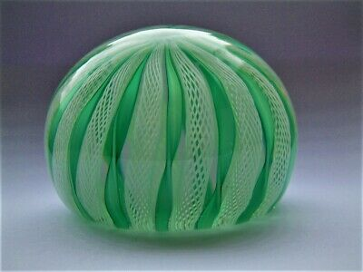 Murano Crown Latticinio Paperweight. • 6.50£