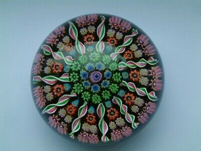 Perthshire Glass 11 Spoke PP1 Millefiori Paperweight Early Pre 1978. • 21£