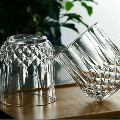 Crystal Tumblers Whisky Glasses Set 6 Pcs Diamond Tumbler Spirit Glass Crystal • 11.49£
