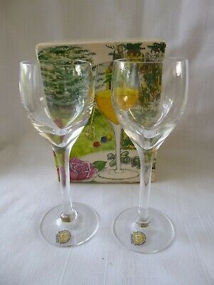 Dartington Chateau Two Sherry  Glasses  Boxed Ft 245/1 • 13.99£