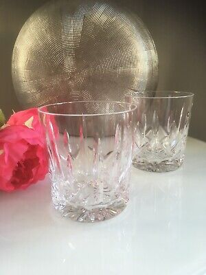 Pair Of Royal Brierley * ASCOT * Crystal Whisky Glasses • 17.50£