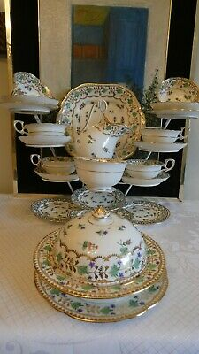 Hammersley / T Goode Antique Fine Porcelain 22 X Piece Tea Service - 4809 • 520£