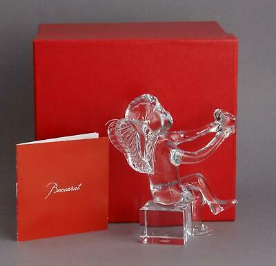 BOXED Never Displayed BACCARAT Crystal Glass CHERUB Holding HEART Love Token • 175£