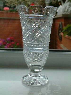 Waterford Cut Crystal 7  Vase Signed • 11.50£