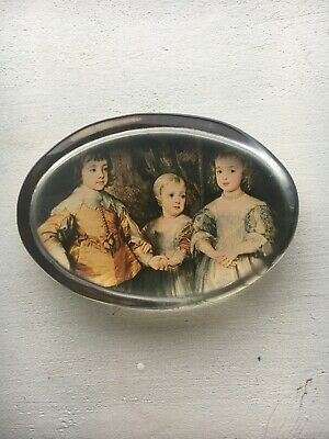Vintage British Nigel Pain Handcast Glass Paperweight Children Of King Charles I • 6.99£