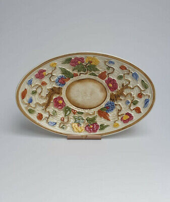 H J Wood Staffordshire Indian Tree Hand Painted Moulded Serving Dish • 12.50£