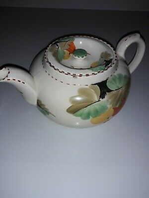 Art Deco Period Style Tea Pot. Handpainted. Small Chip To Top....see Photo. • 2£