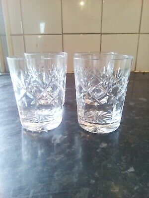Four  Lead  Crystal  Whisky  Glasses • 2.99£