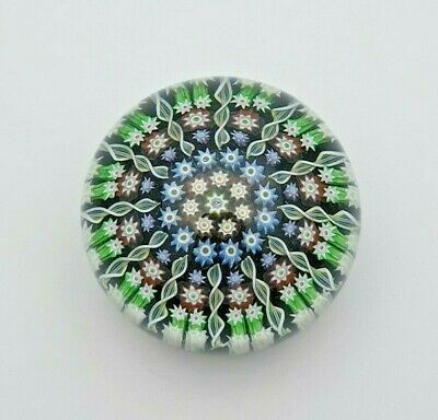 Quality Perthshire Glass Millefiori Paperweight With 'p' Cane - Perfect • 17£