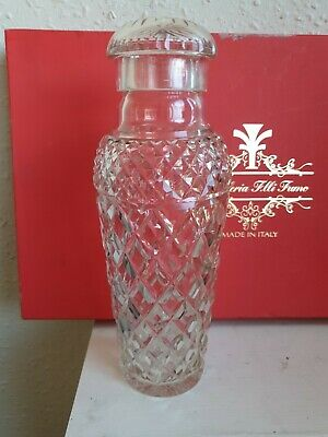 Excellent Quality Cut Glass Crystal Art Deco Cocktail Shaker  • 4.99£