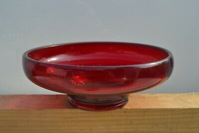 Large Ruby Glass Bowl • 5£