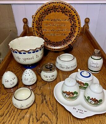Delightful 12 Piece Collection Of Dartmouth Pottery Motto Ware • 19£