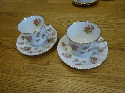 2x Royal Heritage Cup And Saucer Duo Bone China Flora Buds • 3.80£