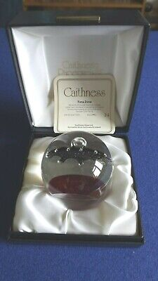 Caithness Glass Paperweight Limited Edition 'time Zone' • 30£