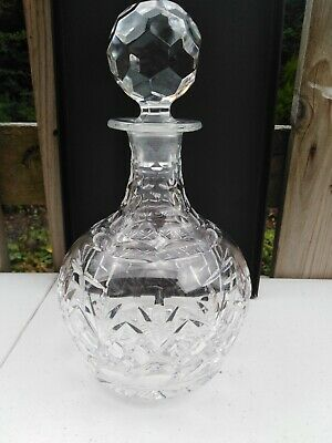 ROYAL DOULTON Georgian Cut Crystal WINE DECANTER - Made In England • 29.50£