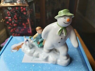 John Beswick Snowman Collection:  Billy And The Snowdog In Gift Box   • 9.95£