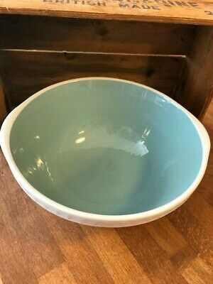 Vintage TG Green Easimix White Mixing Bowl – Greeny-Blue Inside – Great!  • 24.99£