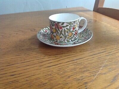 William Morris Pomegranate Dunoon Bone China Cup & Saucer • 9.99£