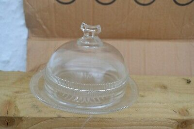 Vintage Pressed Glass Cheese Dish • 5£
