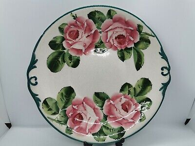 Early Wemyss Ware Cabbage Rose Cake Plate • 125£