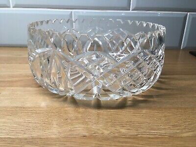 Crystal Fruit Bowl Toothed Rim • 15£