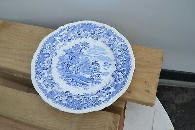Seaforth Blue And White Plate • 5£
