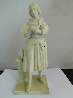 Lovely Quality 19th Century ??  Parian Ware Joan Of Arc Statue • 114£