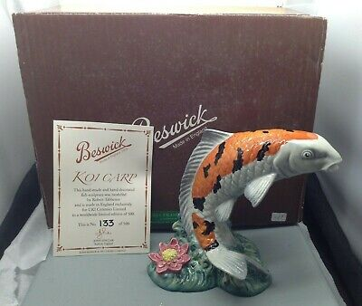 Lovely Very Rare Beswick Ltd Edition Koi Carp Figurine No 133 Of 500 SU1452 • 150£
