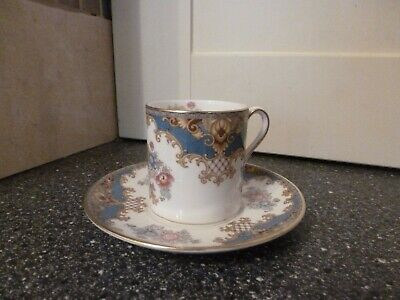 Vintage Shelley Sheraton Coffee Can & Saucer • 19.99£
