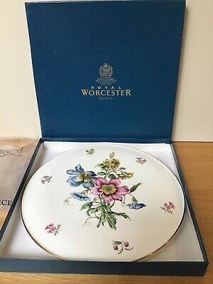 Royal Worcester Gloucester Flowers Gateau Large Serving Cake Plate, With Box • 12.99£