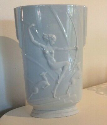 Rare Diana The Huntress With Fawns Franz Vase 11 Inches A5504 • 4.99£
