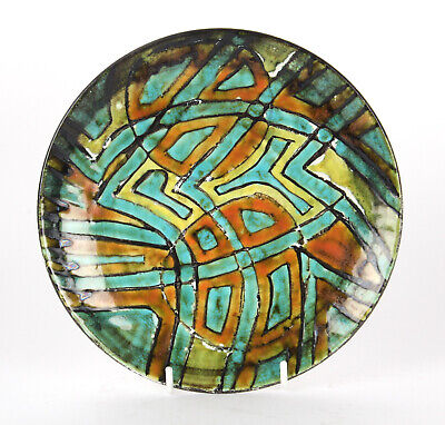Poole Pottery Studio 8 Inch Plate Early 1963 TV Screen Mark Modernist Abstract • 155£